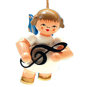 Tree ornaments Angel Ornaments Floating Angels - blue wings Tree Ornament - Angel with Clef - Blue Wings - Floating - 5,5 cm / 2.2 inch