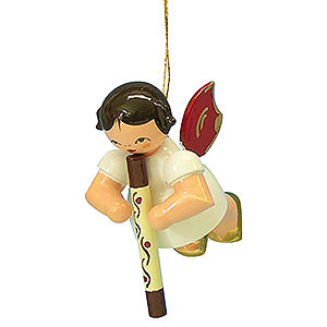 Tree ornaments Angel Ornaments Floating Angels - red wings Tree Ornament - Angel with Didgeridoo - Red Wings - Floating - 5,5 cm / 2,1 inch