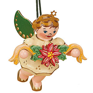 Tree ornaments Angel Ornaments Floating Angels Tree Ornament - Angel with Garland - 6 cm / 2,5 inch