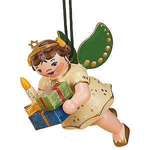 Tree ornaments Angel Ornaments Floating Angels Tree Ornament - Angel with Gifts - 6 cm / 2,5 inch