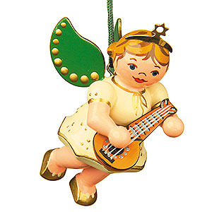 Tree ornaments Angel Ornaments Floating Angels Tree Ornament - Angel with Mandolin - 6 cm / 2,5 inch