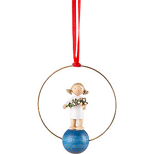 Tree Ornament - Angel with Mistletoe - 7 cm / 2.8 inch