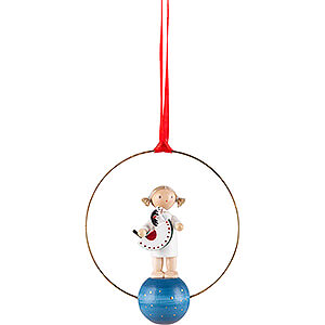Tree ornaments Angel Ornaments Misc. Angels Tree Ornament - Angel with Rocking Horse - 7 cm / 2.8 inch