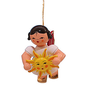 Angels Angel Ornaments Floating Angels - red wings Tree Ornament - Angel with Sun - Red Wings - Floating - 5,5 cm / 2.2 inch