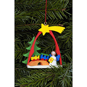 Angels Angel Ornaments Misc. Angels Tree Ornament - Angel with Train - 7,4x6,3 cm / 3x2 inch