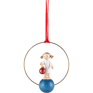 Tree ornaments Angel Ornaments Misc. Angels Tree Ornament - Angel with Tree Ball - 7 cm / 2.8 inch