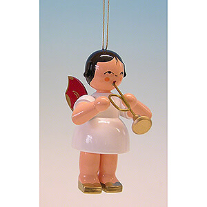 Tree ornaments All tree ornaments Tree Ornament - Angel with Trumpet - Red Wings - 9,5 cm / 3.7 inch