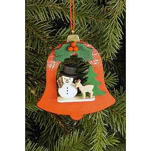 Tree ornaments Snowmen Tree Ornament - Bell with Snowman - 7,1x7,9 cm / 2.8x3.1 inch
