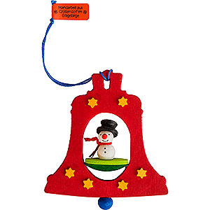 Tree ornaments Snowmen Tree Ornament - Bell with Snowman - 7,5 cm / 3 inch