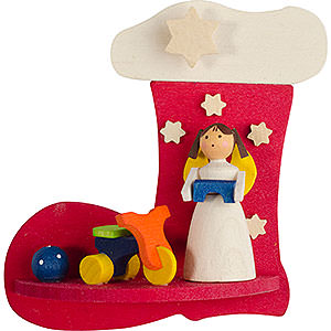 Tree ornaments Toy Design Tree Ornament - Boot-Angel with Trycycle - 7 cm / 2.8 inch