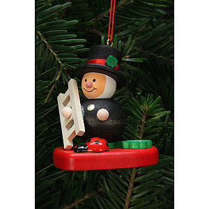 Tree ornaments Misc. Tree Ornaments Tree Ornament - Chimney Sweep on Heart - 5,1x5,6 cm / 2x2 inch