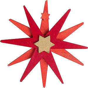 Tree ornaments Moon & Stars Tree Ornament - Christmas Star red - 7,4 cm / 2.9 inch