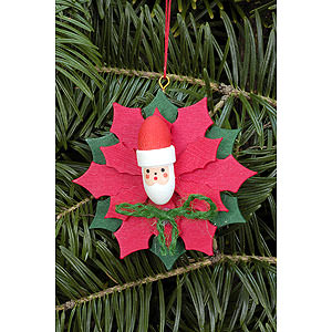 Tree ornaments Christmas Tree Ornament - Christmas Star with Santa Claus - 6,5x6,5 cm / 2.5x2.5 inch