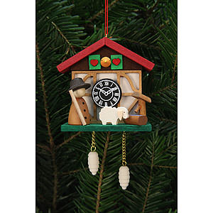 Tree ornaments Misc. Tree Ornaments Tree Ornament - Cuckoo Clock Shepherd - 7,0x6,7 cm / 3x3 inch