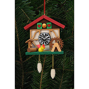 Tree ornaments Misc. Tree Ornaments Tree Ornament - Cuckooo Clock with Little Bird - 7,0x6,7 cm / 3x3 inch