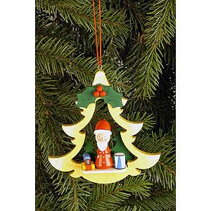 Tree ornaments Santa Claus Tree Ornament - Fir Tree with Santa Claus - 8,5x8,7 cm / 3.3x3.4 inch