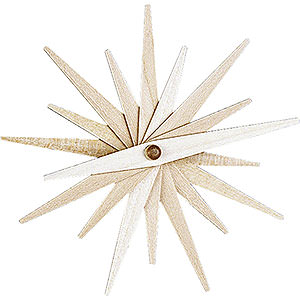 Tree ornaments Moon & Stars Tree Ornament - Folded Star Natural, Set of Three - 9,5 cm / 3.7 inch