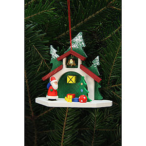 Tree ornaments Santa Claus Tree Ornament - Forest Chapel with Niko - 9,2x8,7 cm / 4x3 inch