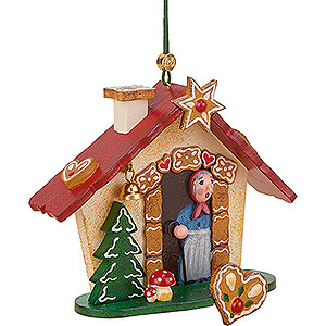 Tree ornaments Ginger Bread Design Tree Ornament - Gingerbread House - 8 cm / 3.1 inch
