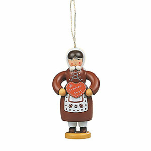 Tree ornaments Ginger Bread Design Tree Ornament - Gingerbread Woman Colored - 8 cm / 3.1 inch