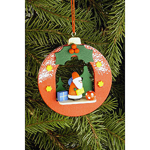 Tree ornaments Santa Claus Tree Ornament - Globe with Santa Claus - 6,7x7,4 cm / 2.6x2.9 inch