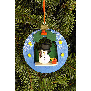 Tree ornaments Snowmen Tree Ornament - Globe with Snowman - 6,7x7,4 cm / 2.6x2.9 inch