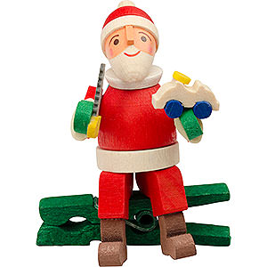 Tree ornaments Toy Design Tree Ornament - Gnome with Car, with Clip - 6 cm / 2.4 inch
