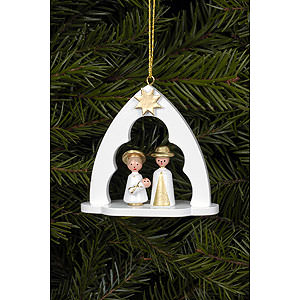 Tree ornaments Misc. Tree Ornaments Tree Ornament - Holy Family White - 6,5x6,2 cm / 2.5x2.4 inch