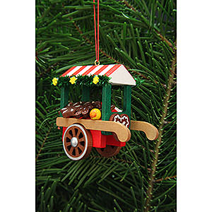 Tree ornaments Toy Design Tree Ornament - Market Cart with Ginger Bread - 7,5 cm / 3 inch