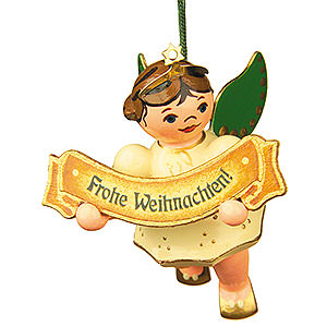 Tree ornaments Angel Ornaments Floating Angels Tree Ornament - Merry Christmas Angel - 6 cm / 2,5 inch