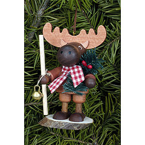 Tree ornaments Dwarfs & others Tree Ornament - Moose Natural - 9,5 cm / 4 inch