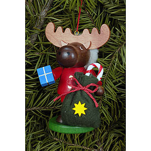 Tree ornaments Christmas Tree Ornament - Moose Santa - 9,5 cm / 4 inch