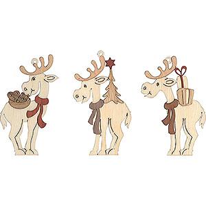 Tree ornaments Misc. Tree Ornaments Tree Ornament - Moose - Set of 6 - 7 cm / 2.8 inch
