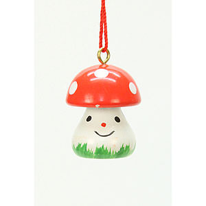 Tree ornaments Misc. Tree Ornaments Tree Ornament - Mushroom - 1,8x2,4 cm / 1x1 inch