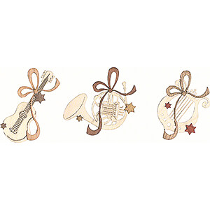 Tree ornaments Misc. Tree Ornaments Tree Ornament - Musical Instruments - Set of 6 - 7,5 cm / 3 inch
