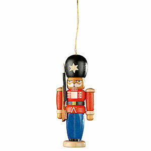 Tree ornaments Christmas Tree Ornament - Nutcracker Guarding Soldier - 8 cm / 3.1 inch