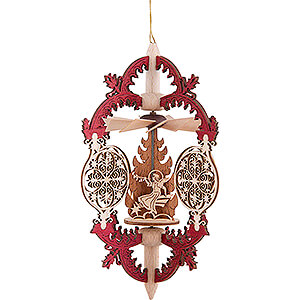 Tree ornaments All tree ornaments Tree Ornament - Ornaments - Angels on Stars - 15 cm / 5.9 inch
