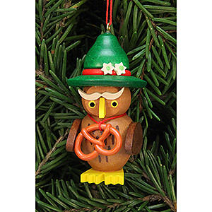 Tree ornaments Misc. Tree Ornaments Tree Ornament - Owl Bavarian - 3,2x6,2 cm / 1.3x2.4 inch