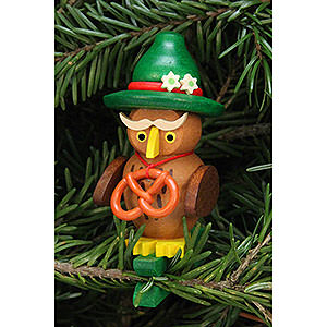 Tree ornaments Misc. Tree Ornaments Tree Ornament - Owl Bavarian on Clip - 4,8x7,3 cm /1.9x2.9 inch