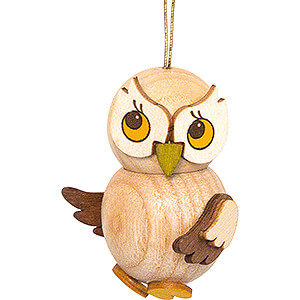 Tree ornaments Misc. Tree Ornaments Tree Ornament - Owl Child natural - 4 cm / 1.6 inch