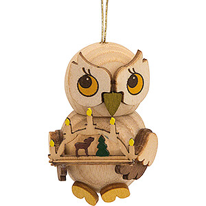 Tree ornaments Misc. Tree Ornaments Tree Ornament - Owl Child with Candle Arch - 4 cm / 1.6 inch