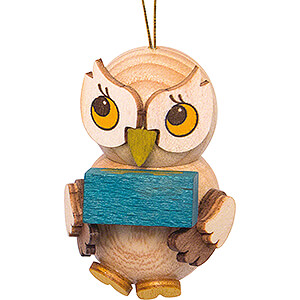 Tree ornaments Misc. Tree Ornaments Tree Ornament - Owl Child with Present - 4 cm / 1.6 inch
