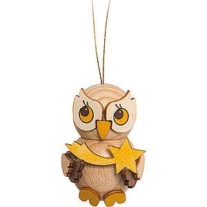 Tree ornaments Moon & Stars Tree Ornament - Owl Child with Star - 4 cm / 1.6 inch