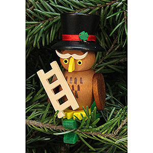 Tree ornaments Misc. Tree Ornaments Tree Ornament - Owl Chimney Sweep on Clip - 5,0x7,3 cm / 2.1x2.9 inch