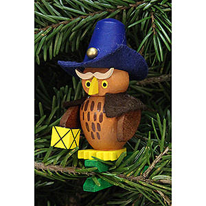 Tree ornaments Misc. Tree Ornaments Tree Ornament - Owl Nightwatchman on Clip - 5,3x7,3 cm / 2.1x2.9 inch