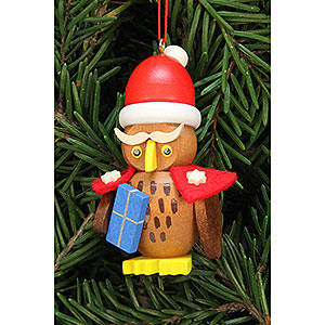 Tree ornaments Santa Claus Tree Ornament - Owl Santa Claus - 3,2x6,2 cm / 1.3x2.4 inch