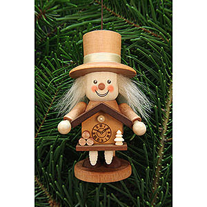 Tree ornaments Dwarfs & others Tree Ornament - Rascal Black Forester Natural - 10,5 cm / 4.1 inch