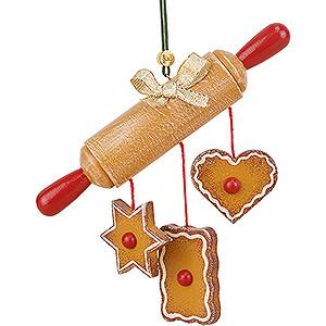 Tree ornaments Ginger Bread Design Tree Ornament - Rolling Pin - 10 cm / 3.9 inch