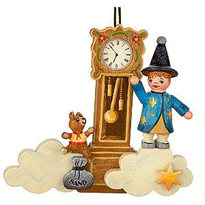 Tree ornaments Toy Design Tree Ornament - Sandman Teddy Clock - 9 cm / 3,5 inch