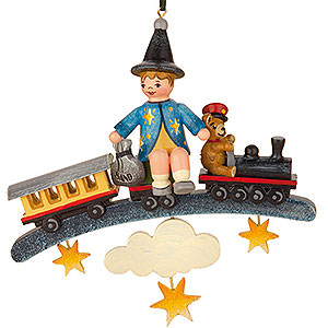 Tree ornaments Toy Design Tree Ornament - Sandman Teddy Train - 9 cm / 3,5 inch